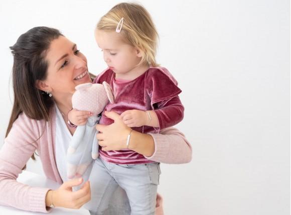 Moeder & dochter armband met naam zilver