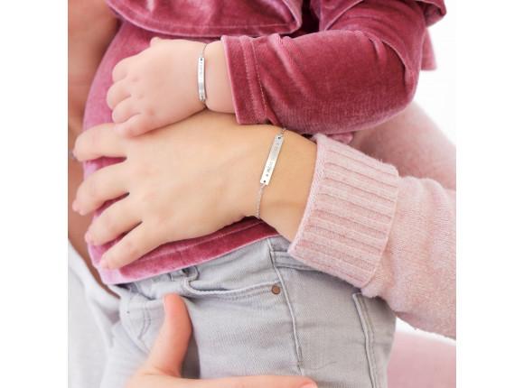 Baby Armband Met Naam Zilver