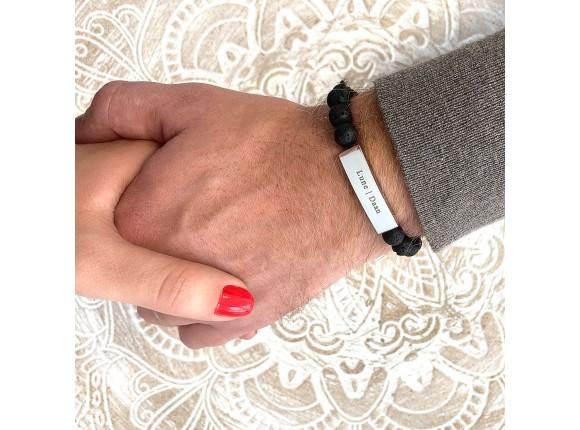 Heren armband met naam