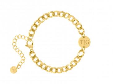 Schakelarmband met initialen goud