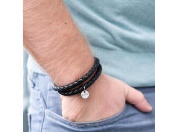 Leren Armband Heren met Tekst