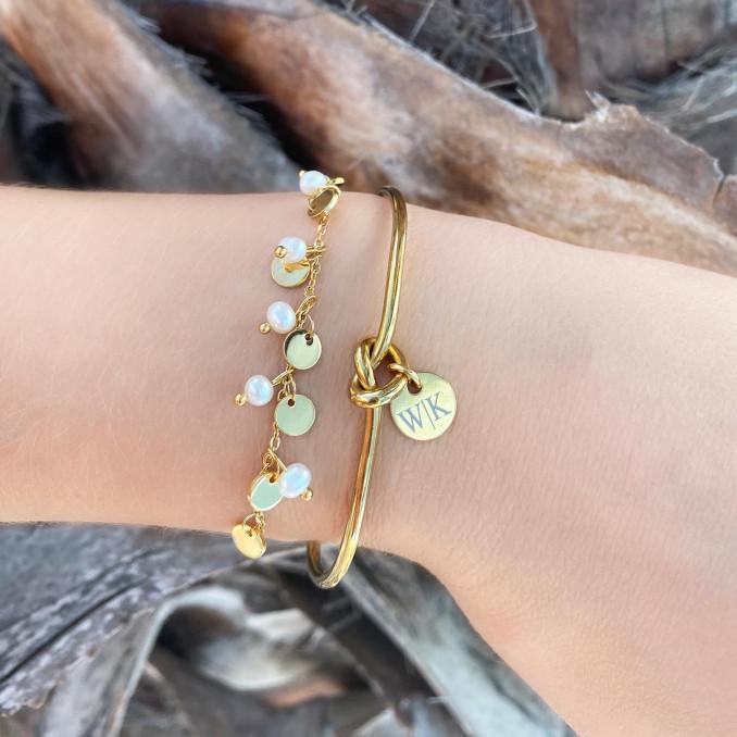 Mooie armband met parels voor een complete look