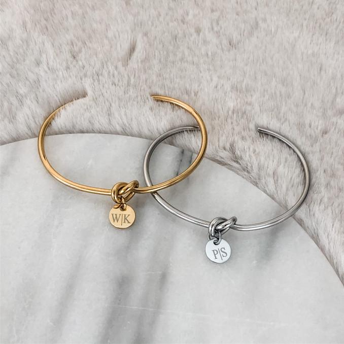 Gouden en zilveren armband van stainless steel voor om de pols
