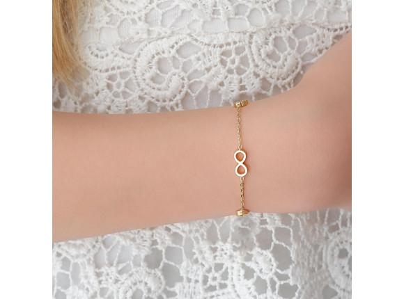 Kinder infinity armbandje Goud