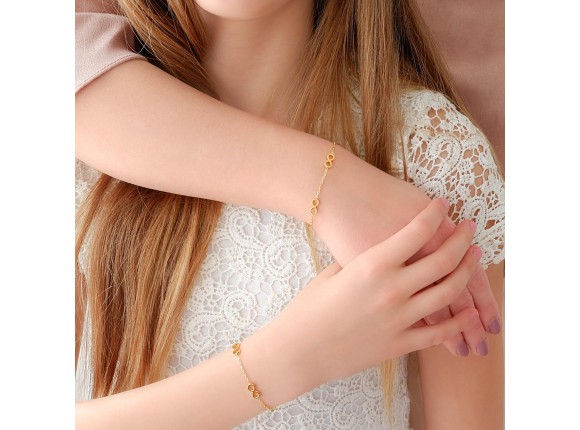 Moeder & Dochter Armband Infinity Goud Kleurig