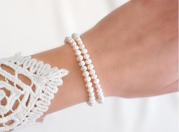 Dubbele parel armband