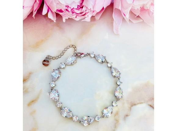 Bruids armband met steentjes