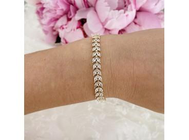 Armband voor de bruid met steentjes verguld