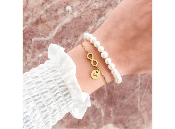 Infinity Armband met naam Goud Kleurig