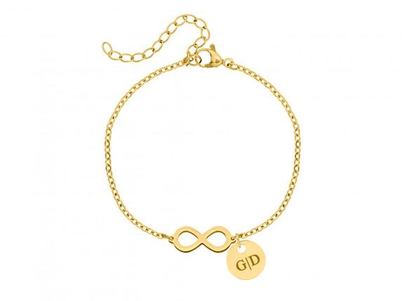Infinity Armband met naam Goud