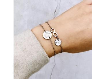 Infinity Armband met naam Zilver