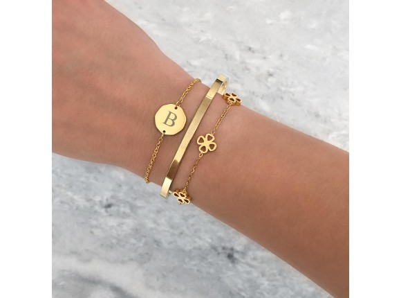 Smalle bangle open gold plated