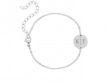 Twee initialen armband
