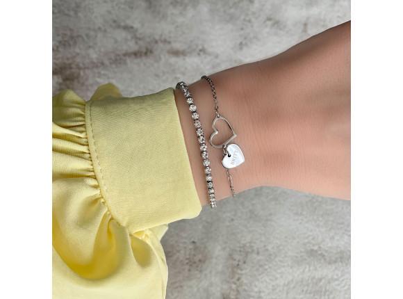 Hartjes armband met naam