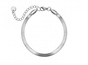 Plat armbandje stainless steel