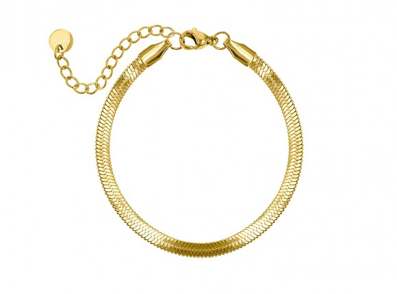 Plat armbandje gold plated