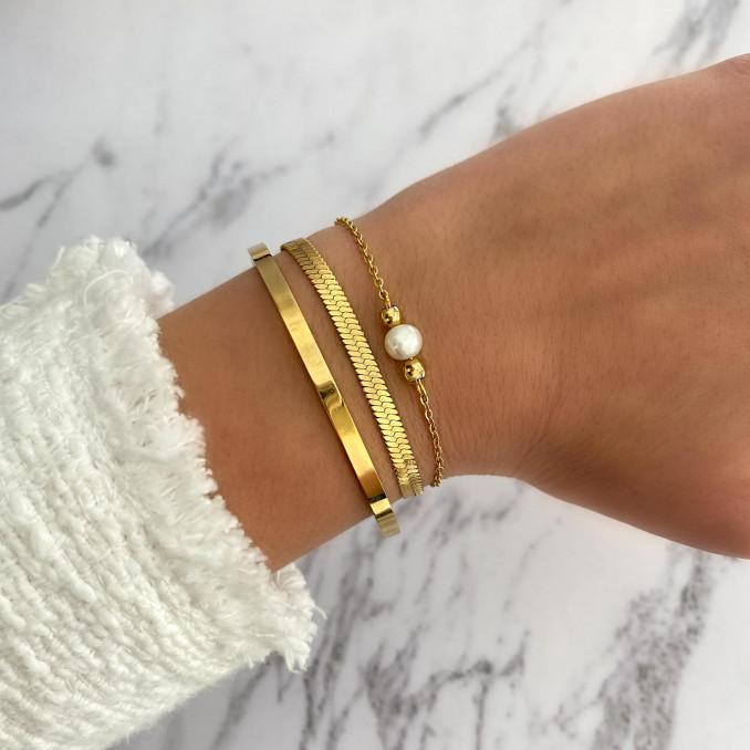 Trendy mix van armbandjes voor om de pols