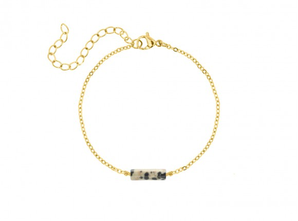 Armband leopard steentje goud kleurig