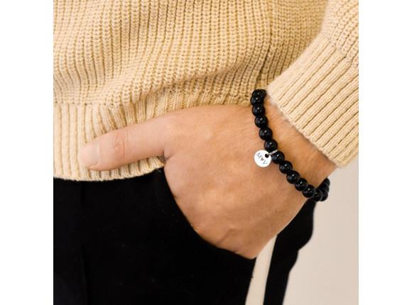 Heren Armband Met Naam Zwart