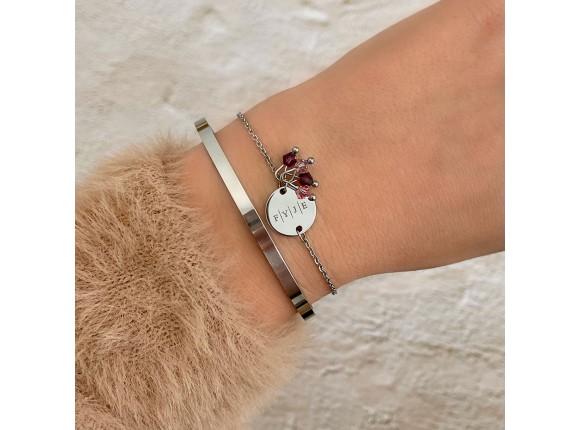 Graveerbare armband swarovski birthstone