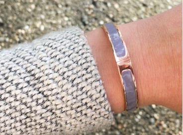 DRKS Must-have Bangle Rosé Goud Kleurig/Grijs