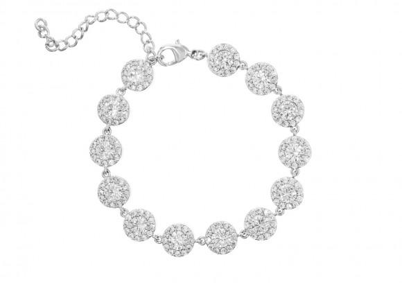 Zilveren armband met ronde zirkonia's luxe