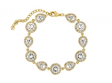 Beautiful bracelet with zirconia