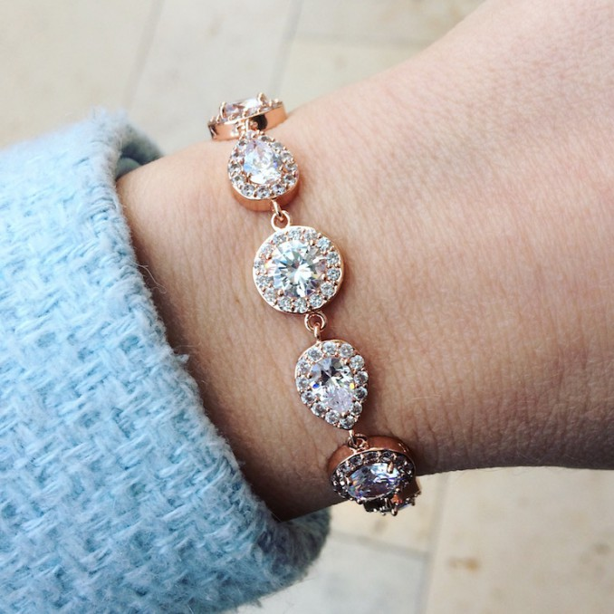 Daily Luxury Armband V Rose Goud Kleurig