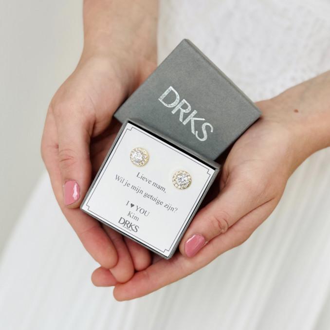 daily luxury oorbellen in doosje