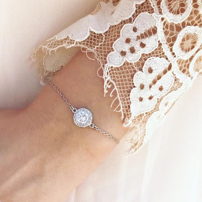 DRKS luxe armband met ronde zirconia