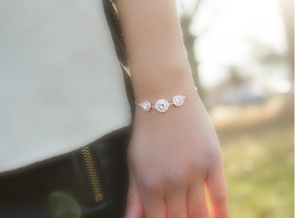 Daily Luxury Armband II Rose Goud Kleurig