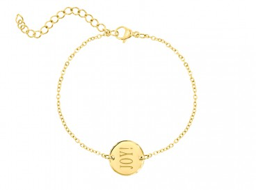 DRKS Graveerbare Armband Goud Rond Joy