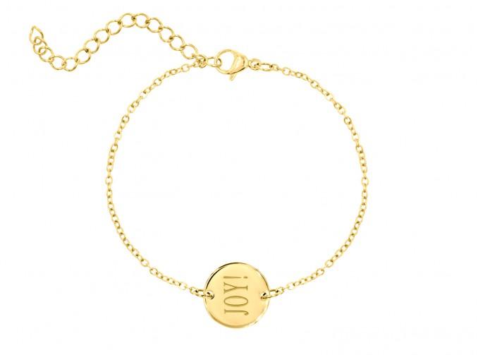 DRKS Graveerbare Armband Goud Rond Joy