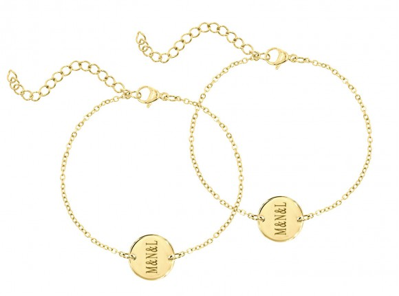 DRKS Engravable Mother & Daughter Bracelet Gold