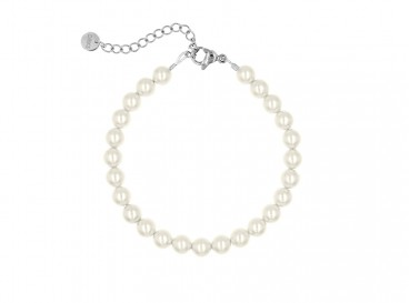 Prachtige faux parel armband in ivoor voor elke gelegenheid