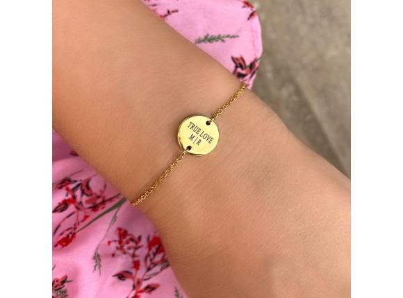 DRKS Engravable Bracelet Round Gold Joy