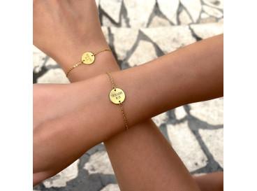 DRKS Graveerbare Moeder & Dochter Armband Goud