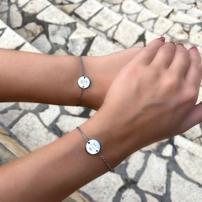 Mooie graveerbare armband voor moeder en dochter om te delen