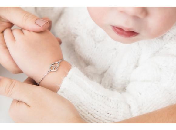 Kinder Armband Dubbel Hart Goud