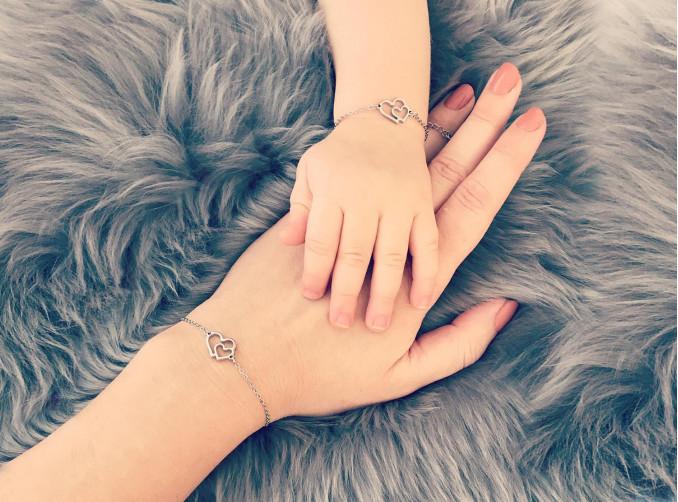 Zilveren stalen armbandjes combinatie