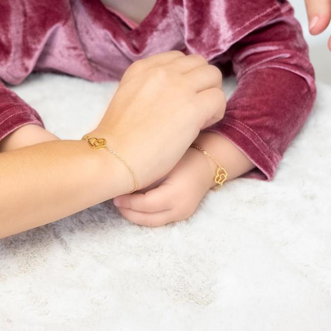 gouden moeder dochter armband voor om de pols voor een leuke look