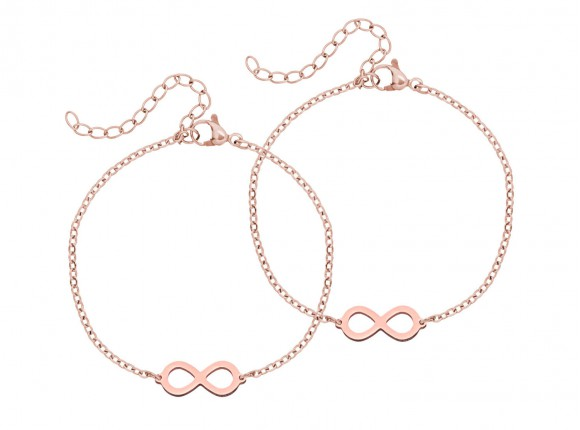Mom & Daughter Steel Infinity Rose Gold