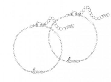 Moeder en dochter love armband zilver