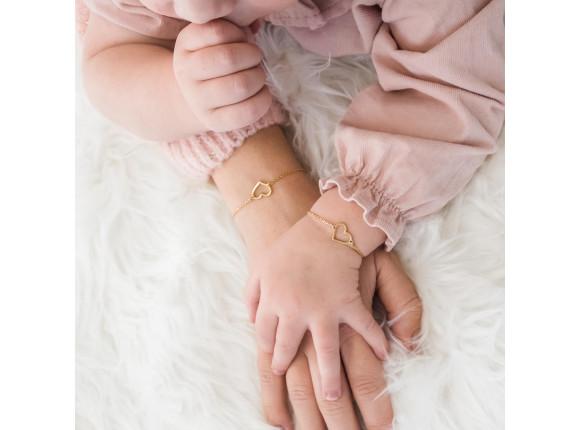 Kinder armbandje hartje goud