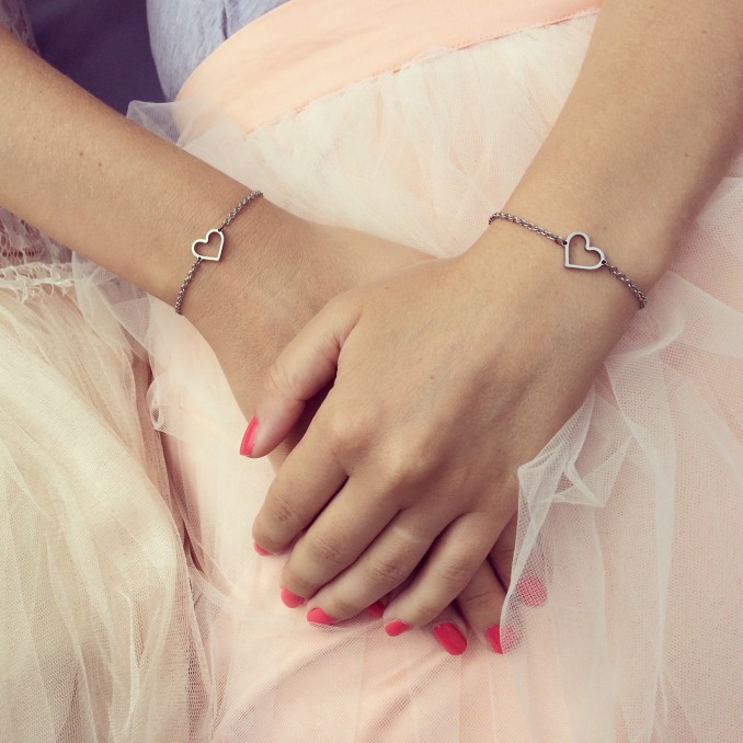 Mooie hartjes armband voor om de pols dus met het leukste armbanden