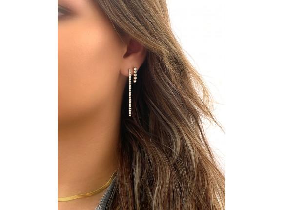 Lange oorbellen tennis goud kleurig