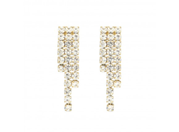 Tennis earrings luxury goud kleurig