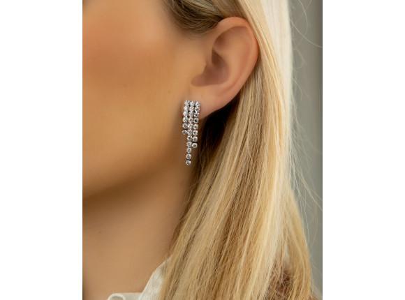 Tennis earrings luxury