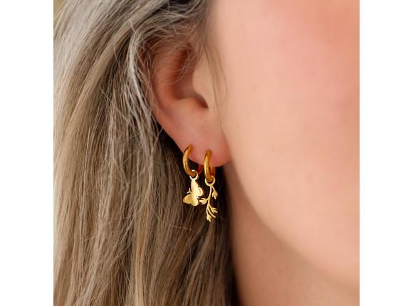 Oorringetjes vlinder goud kleurig