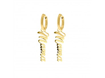 Mama oorbellen goud kleurig